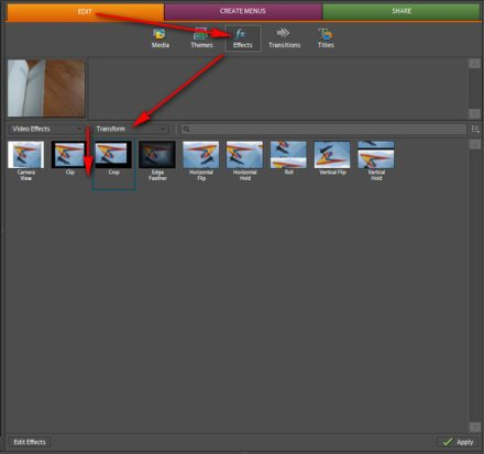 How to crop a video with Adobe Premiere Elements 4 | :: m y