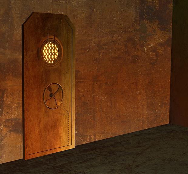 El arte de las puertas. Steampunk-door