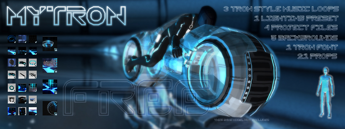 Free Tron pack for iClone – props, projects, lights | :: m y
