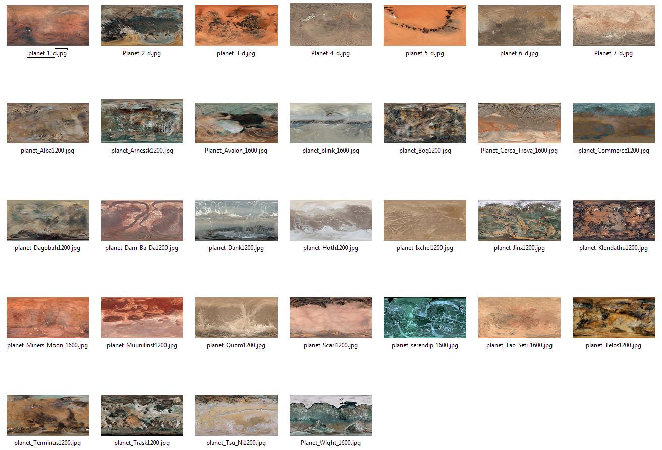 32 alien planets textures | :: m y C L O N E ::