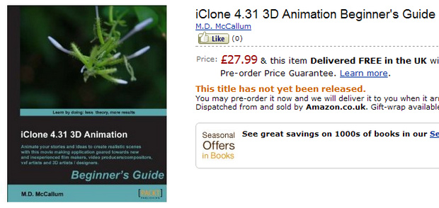 iClone 4.31 3D Animation Beginners Guide
